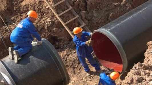 Строительство газопровода
